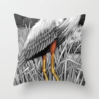 legs Throw Pillows featuring Legs by Kim Taggart