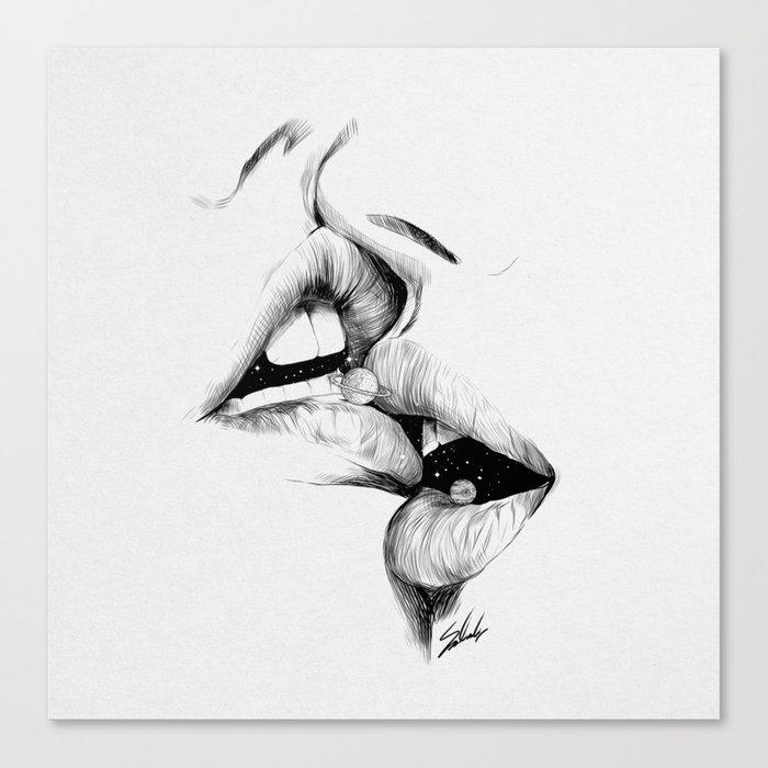 Universe kiss. Leinwanddruck