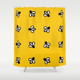 Buzzin all around the world. Shower Curtain