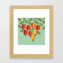 pixelated cashews Framed Art Print
