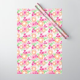 20 Tropical Flower Collection Wrapping Paper