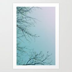 Impressions of nature, the tree paints beautiful pictures Art Print