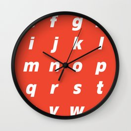 Flatfats Awkwardface Bold Oblique LC Wall Clock