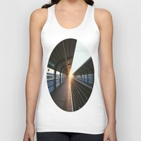 jewish Tank Tops featuring The light at the end of the tunnel by Brown Eyed Lady