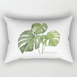 Monstera deliciosa 3 Leaves Rectangular Pillow