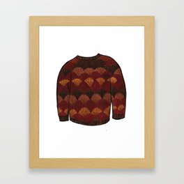 Season 3, Episode 14 (full sweater) Framed Art Print