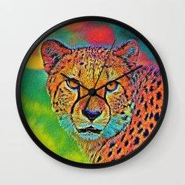 AnimalColor_Cheetah_001 Wall Clock