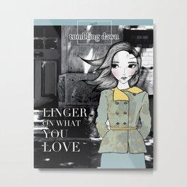 November Girl #2 Metal Print