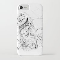 carnage iPhone & iPod Cases featuring Carnage by Angie Dilaj