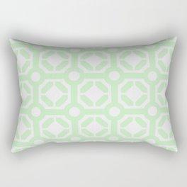 Teal tile 6 Rectangular Pillow