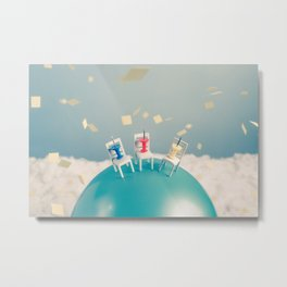 Outdoor Party in a Windy Day Metal Print