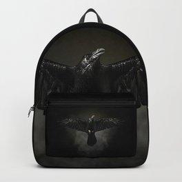 Black raven, crow flight Backpack