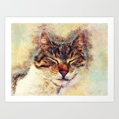 Cat Saba Art Print