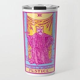 Justice - A Femme Tarot Card Travel Mug