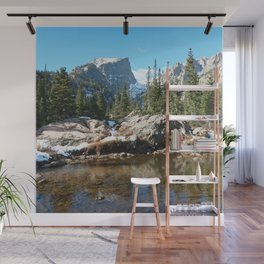 Watercolor Landscape, Dream Lake 01, RMNP, Colorado Wall Mural