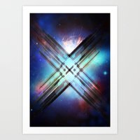 sci fi Art Prints featuring Sci-Fi Shards by Alli Vanes