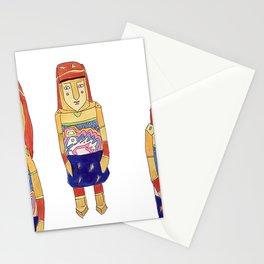 Guna Wood Dolls Stationery Cards