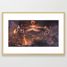 The Pyromancer (Dark Souls Fan Art) Framed Art Print