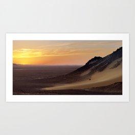 Sunset in the Black Desert Art Print