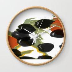 antipasto / food , olive, tomatos, kitchen art, pop art Wall Clock