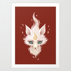 White Fox Art Print