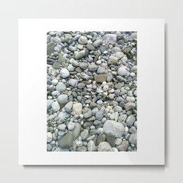 Grey Stones Metal Print
