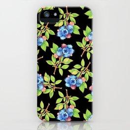 Wild Blueberry Sprigs iPhone Case
