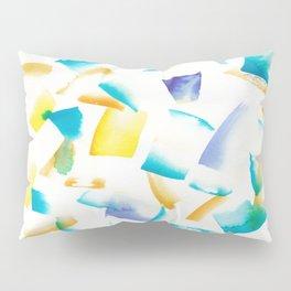 180719 Koh-I-Noor Watercolour Abstract 38 | Watercolor Brush Strokes Pillow Sham