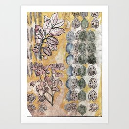 Leaves and Pods Art Print