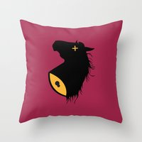 the godfather Throw Pillows featuring The Godfather by FilmsQuiz