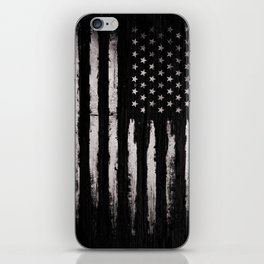 White Grunge American flag iPhone Skin