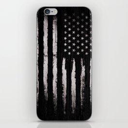 White Grunge American flag iPhone Skin