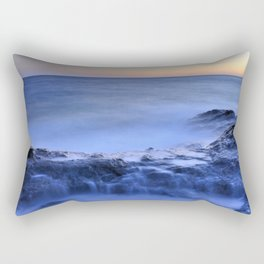 Blue seaside Rectangular Pillow