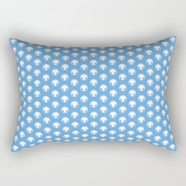 Symbol: Audiophile blue & white with text Rectangular Pillow