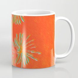 Red Orange Dandelion Coffee Mug