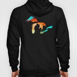 Michigan - Great Lakes in Fractal Colors Hoody