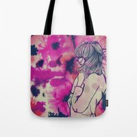 fringe Tote Bags featuring Fringe by Annaleigh Louise