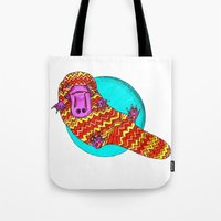 platypus Tote Bags featuring Platypus by Ruth Wels