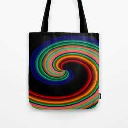 Waves of Colors at night.... Tote Bag