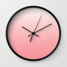 Pale pink fade away Wall Clock