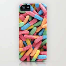 Rainbow Gummy Worms iPhone Case