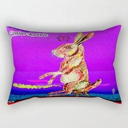 Genius Rabbit Rectangular Pillow