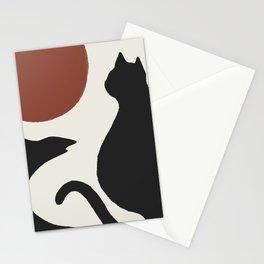 Hidden cat 16 minimal landscape seaside  Stationery Cards