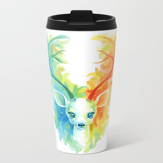 Feather Fawn Metal Travel Mug