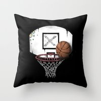 basketball Throw Pillows featuring basketball by Penfishh