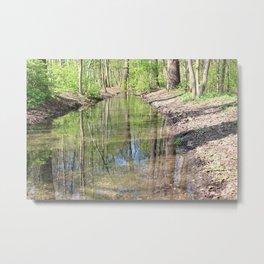 Der Fluss im Wald Metal Print