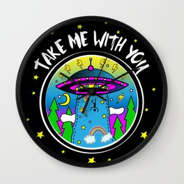 Take me with you Wall Clock