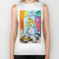 alice wonderland Biker Tanks featuring Wonderland by Amana HB