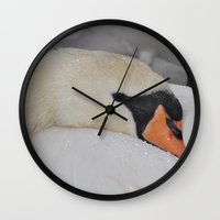 cuddle Wall Clocks featuring Cuddle Doon! by Valerie Paterson