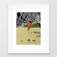 vegetables Framed Art Prints featuring Vegetables by Holden Mesk